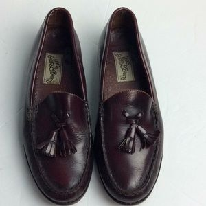 Levi's Shoes Mens Brown Leather Tassel Loafers 9D